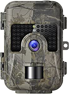 TOOGOO Game Trail Camera with Night Vision Motion Activated 1080P 16MP Cam Hunting Trap Cameras with No Glow IR and Upgraded Waterproof IP66