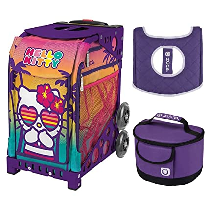 Image Unavailable. Image not available for. Color  Zuca Hello Kitty Beach  Bum Sport Insert Bag w Purple Frame 7230740ae737d