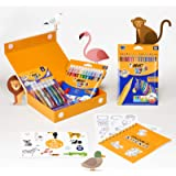 BIC My Colouring Box - Colouring Kit with 12 Markers/ 18 Colouring Pencils/ 6 Glitter Glues/ 1 Colouring Book and 36…