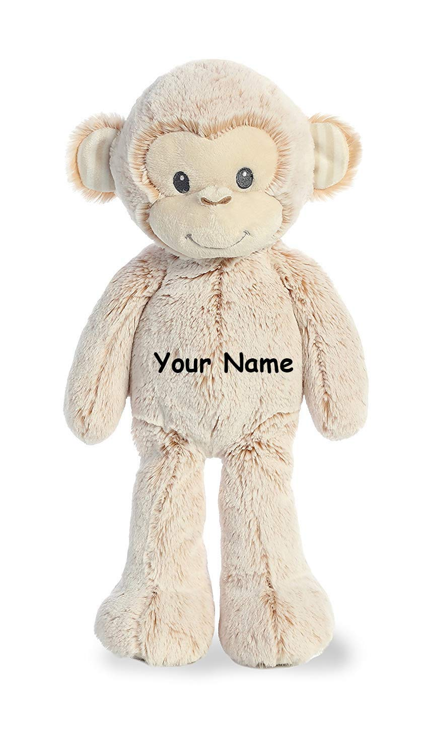 Ebba Personalized Cuddler Marlow Monkey Plush Stuffed Animal Toy - 14 Inches by Ebba
