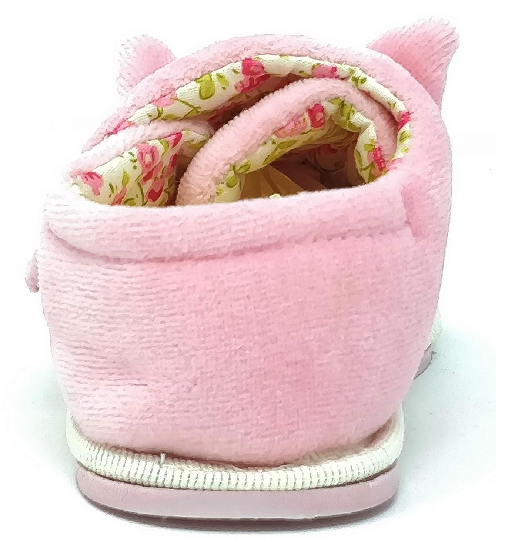 Talla 5-10 Zapatillas para ni/ños y ni/ñas Color Rosa y Verde Lima dise/ño de Gato le/ón Carcassi