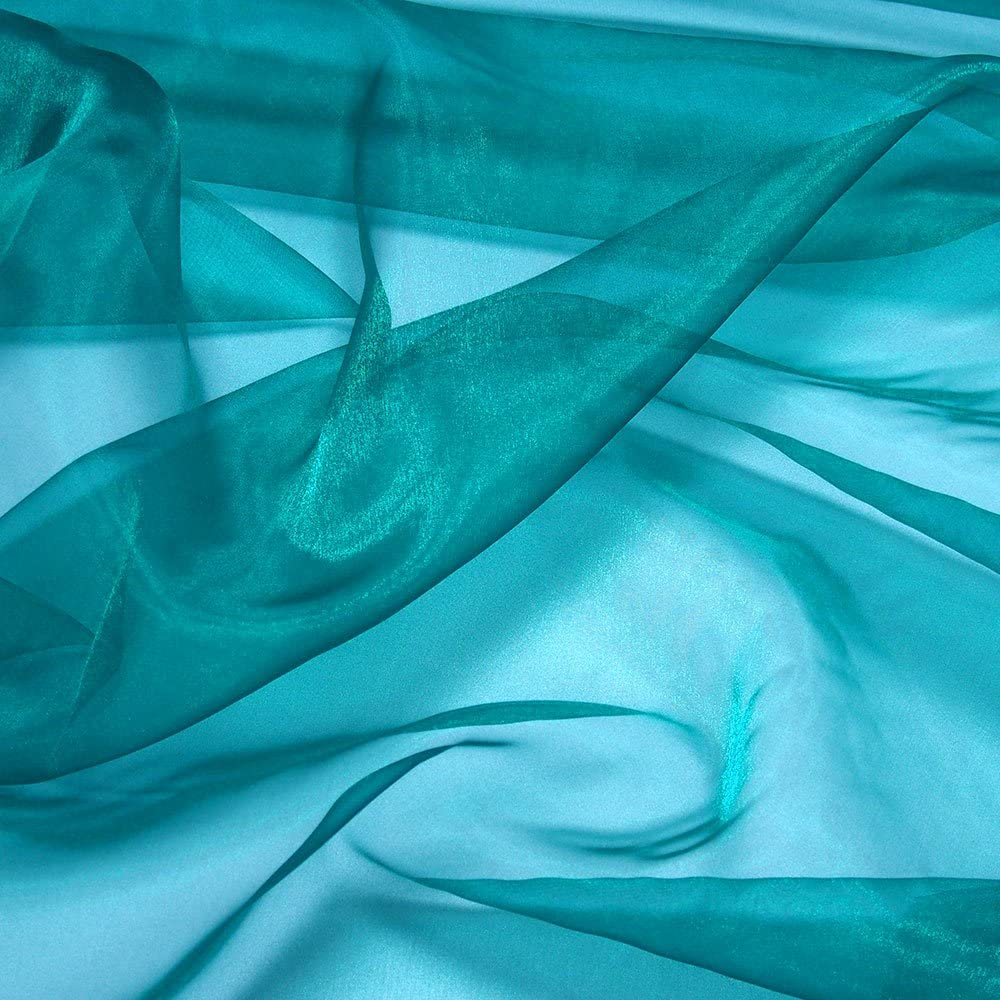 """VDS Baby Blue 5 Yard Charmeuse Bridal Solid Organza Fabric for Wedding Dress Fashion Crafts Decorations Silky Organza 44/"""" inches by The Yard"""
