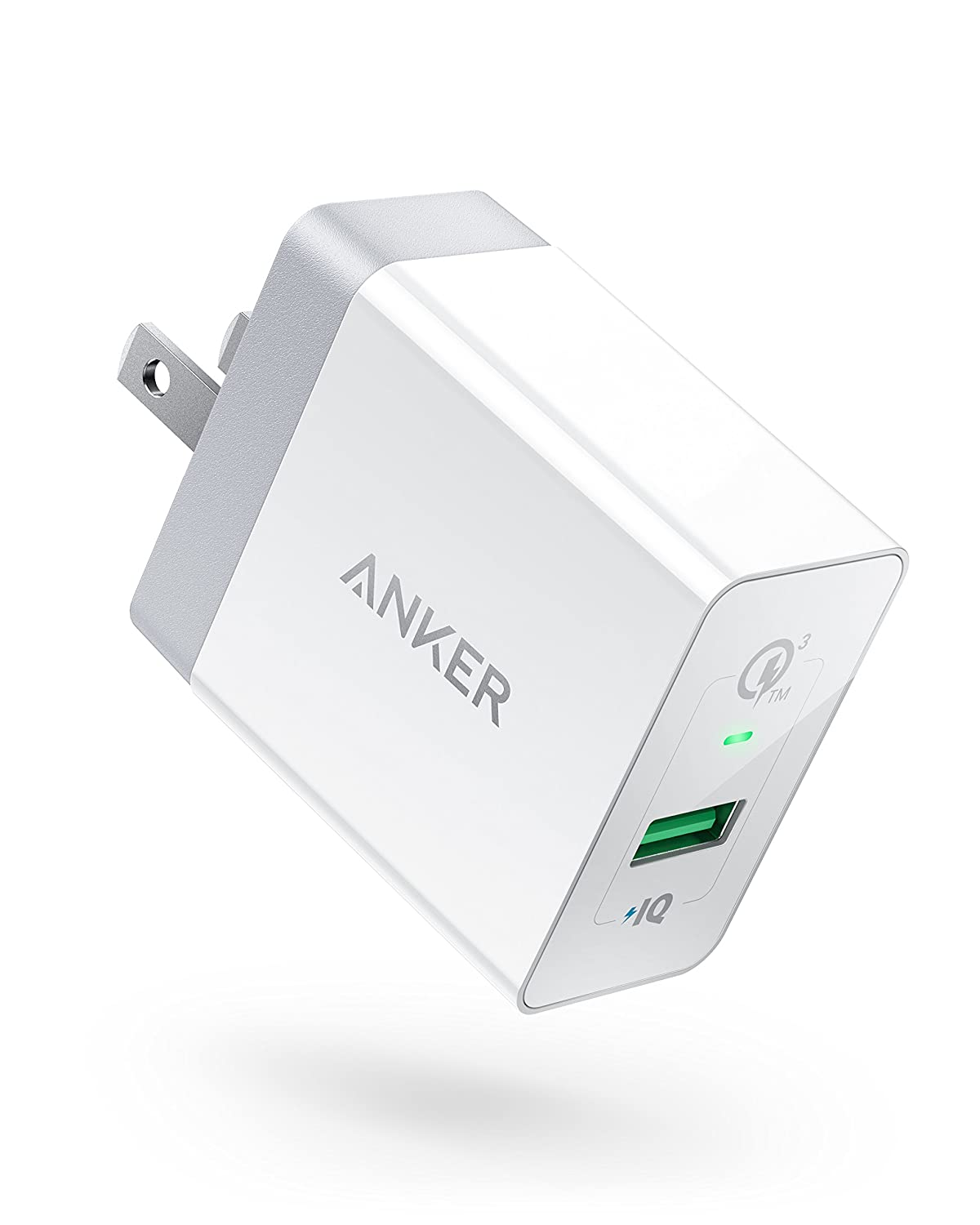 Quick Charge 3.0, Anker 18W USB Wall Charger (Quick Charge 2.0 Compatible) PowerPort+ 1 for Galaxy S7/S6/Edge/Plus, Note 5/4, LG G4, HTC One A9/M9, Nexus 6, iPhone, iPad and More AK-848061056976