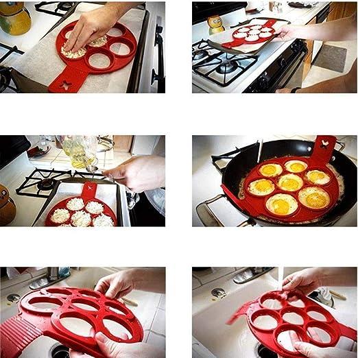Sue-Supply Tortilla de Silicona Moldes para panqueques Molde para ...