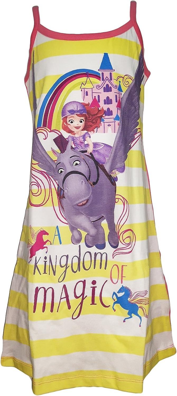 Disney Camicia da Notte Bimba Spalla Stretta Cotone Principessa Sofia Art WD22789 Petalo
