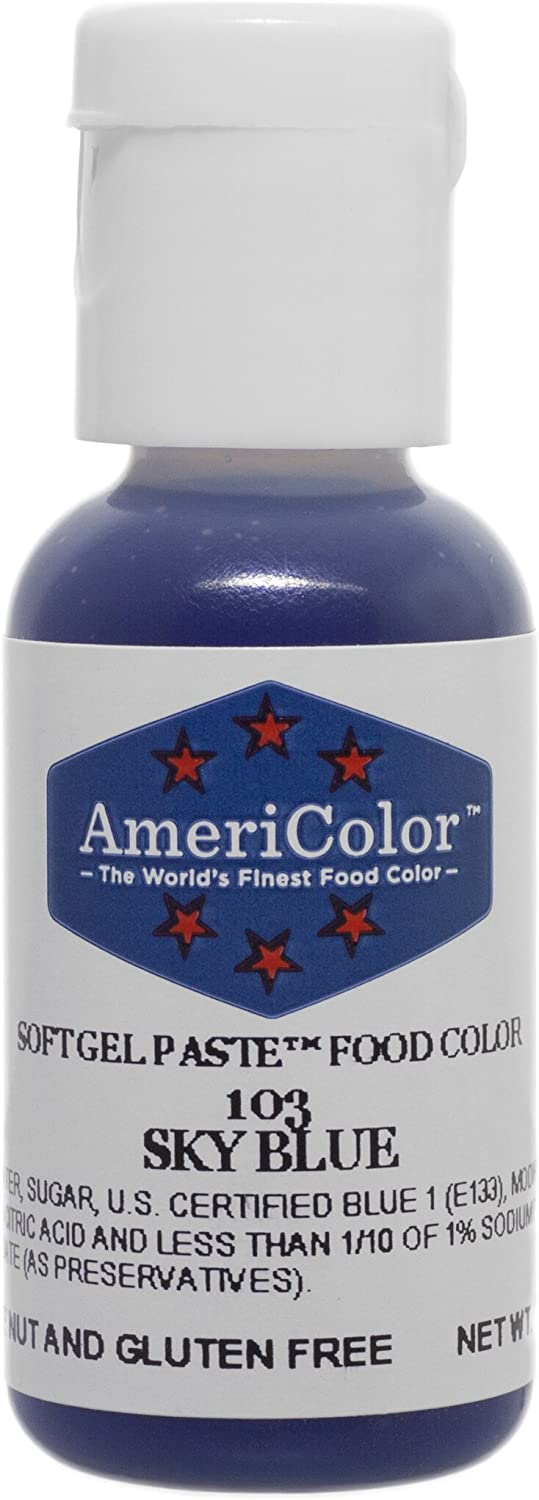 Americolor Soft Gel Paste Food Color.75-Ounce, Sky Blue