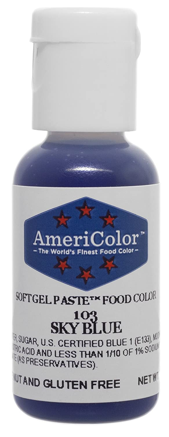 Americolor Soft Gel Paste Food Color, .75-Ounce, Sky Blue