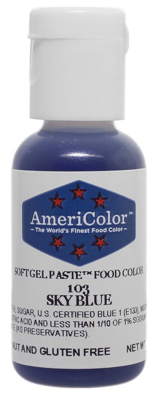 Americolor Soft Gel Paste Food Color, .75-Ounce, Sky Blue