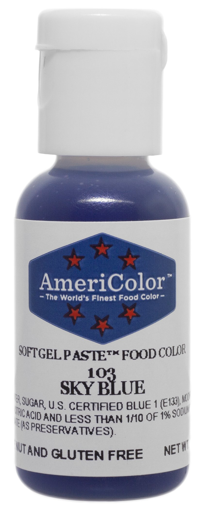 Americolor Soft Gel Paste Food Color.75-Ounce, Sky Blue