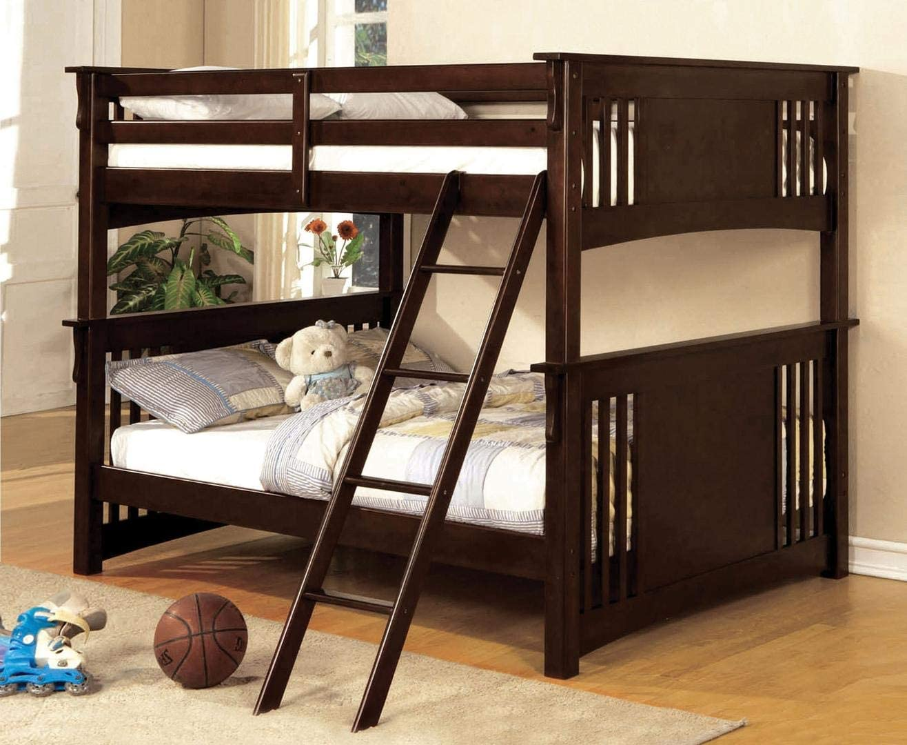 William s Home Furnishing Spring Creek Bunk, Dark Walnut