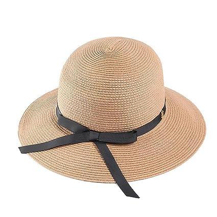 8c3edd2276af2 QZ HOME Sombreros Mujer Sombrero De Paja Gorro De Playa Verano Sombrero  para El Sol Gorra