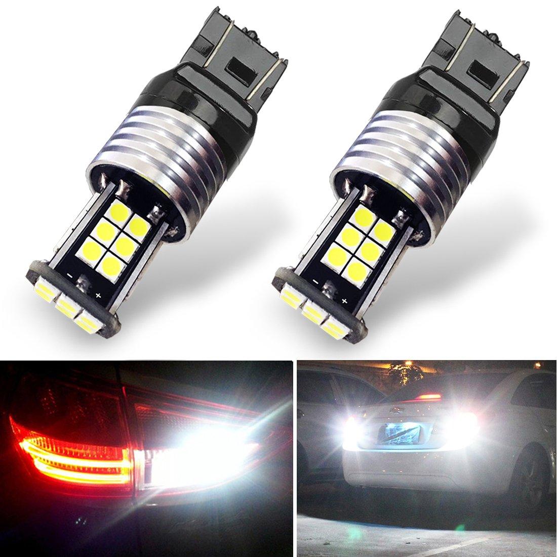 Botepon 1600 Lumens Extremely Bright 7443 7440 7441 7444 992 Led Backup Lights Bulb, 3030 24-SMD Led Bulb for Car Led Backup Reverse Lights 12V 24V (Pack of 2)