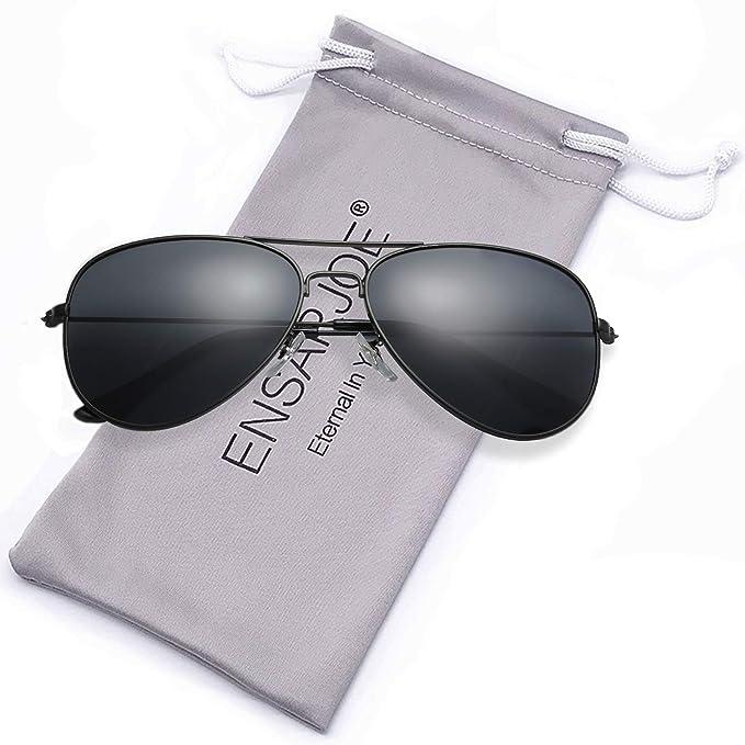 Amazon.com: Gafas de sol polarizadas ENSARJOE UV400 Classic ...