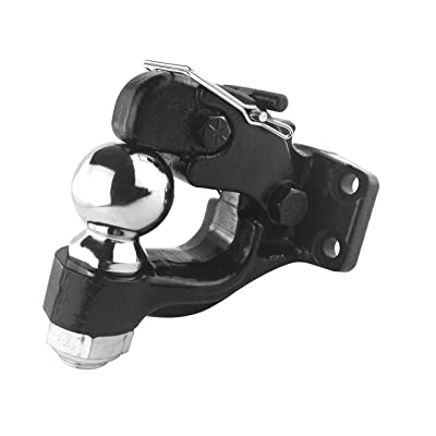 TOPTOW 64185 Pintle Hook with 2-5/16 inch Trailer Hitch Ball Combination, 16,000 lbs. Capacity, Fits for Pintle Mount, Bolt-on, with Fastener Kit: Automotive