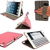 igadgitz Pink Rosa PU Leder Tasche Ledertasche Schutz Hülle Schutzhülle Etui Case für Neu Apple iPad Mini Wi-Fi 16GB 32GB 64GB. Mit Sleep / Wake Funktion, Integrierte Handschlaufe