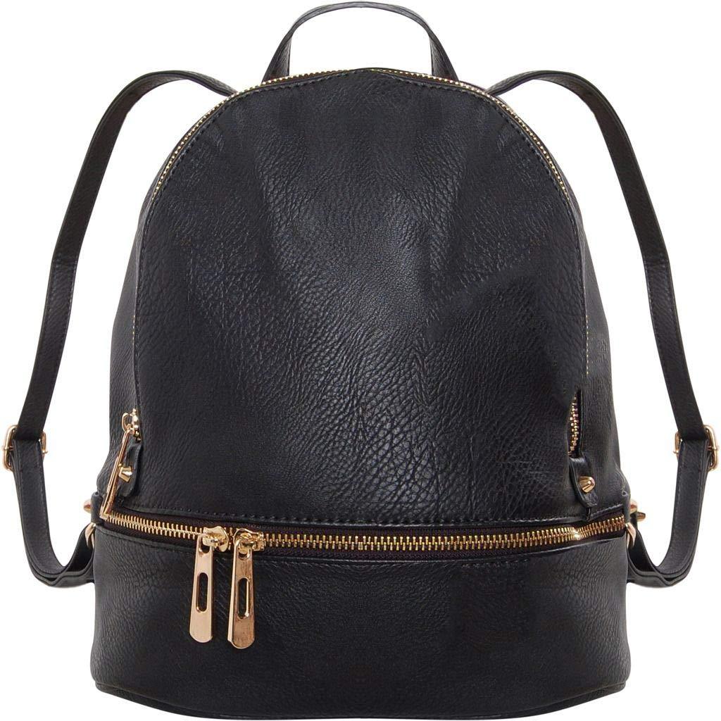 185db5d2c Amazon.com   Humble Chic Vegan Leather Backpack Purse Small Fashion Travel  School Bag Bookbag, Black   Kids' Backpacks
