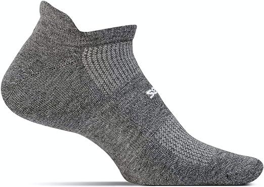 Feetures Unisex High Performance Ultra Light Cushion NST Socks Heather Gray