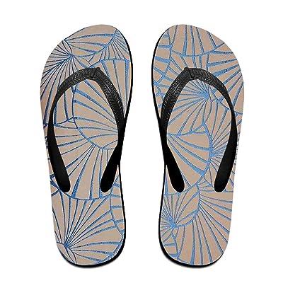 Summer Overlapping Art Pattern Slides Sandals Flip Flops Outdoor Indoor Casual Comfy Slippers