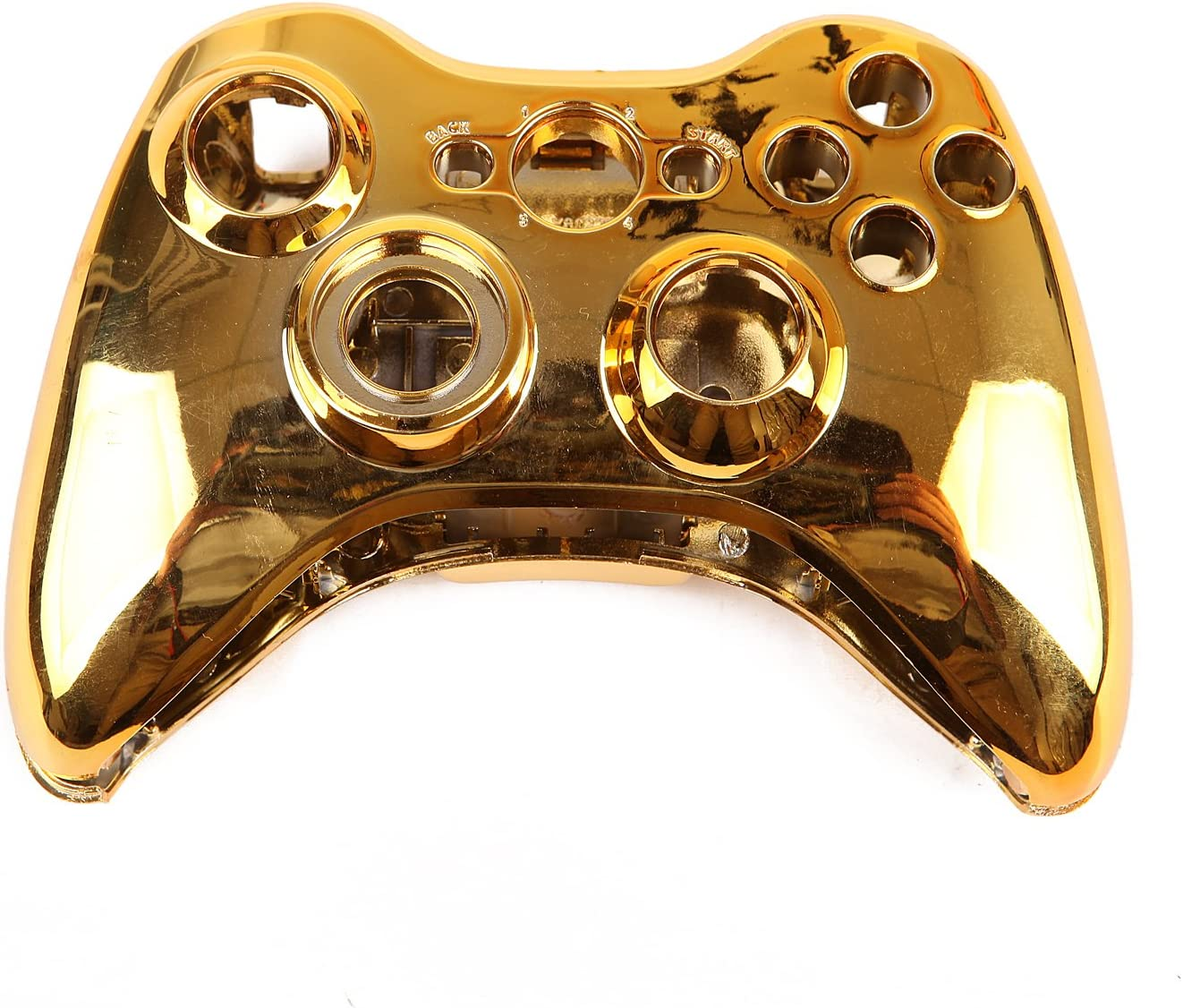 Amazon com: HDE Controller Shell for Xbox 360 Gold Chrome