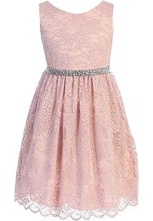 Amazon.com: Big Girls Sequin Junior Bridesmaid Wedding Pageant ...