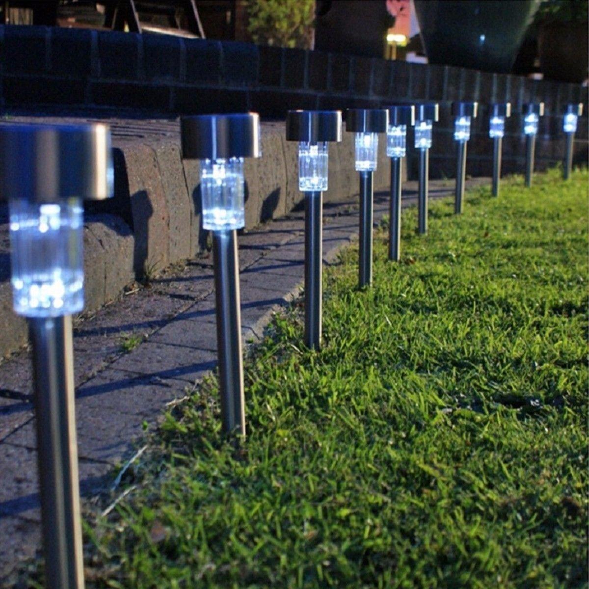 10 Pcs-Garten der Hellen weißen LED Solarlichter Garten-Beleuchtung Garten Verziert LED Solarlichter Im Freienweg-Lichter Oder Landschaftsgestaltungslichter