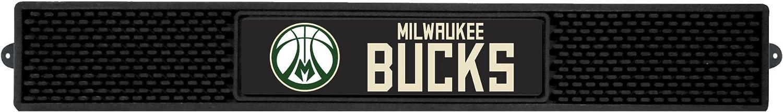 FANMATS 19725 Milwaukee Bucks Drink Mat 3.25x24 Team Color