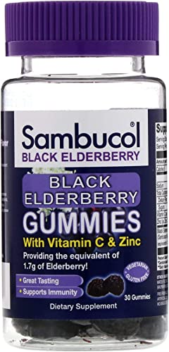 Sambucol Black Elderberry Dietary Supplement Gummies – 30 ct, Pack of 2