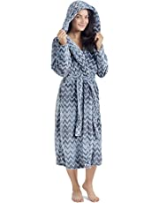 CityComfort Dressing Gown Ladies Robe Super Soft Hooded Gown Nightwear for Women