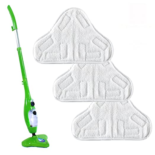 thane set of 3 h2o x5 steam floor cleaner mop microfibre replacement refill reusable washable velcro