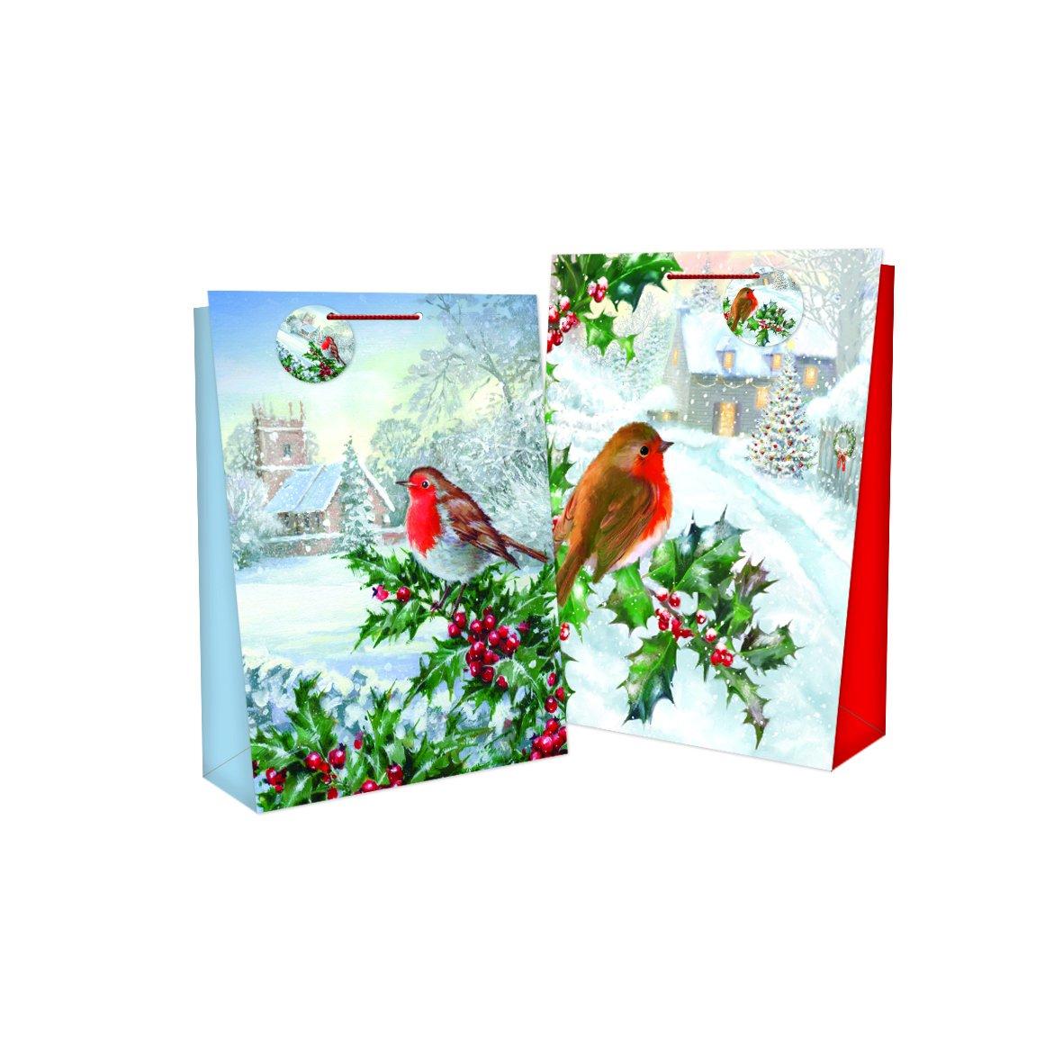 12 x Borsette regalo di taglia media per tutte le occasioni: Natale, festa e compleanno, includono l' etichetta regalo, molti design disponibili, 23 x 18 x 10 cm 12x Design 6 (8656) Tallon