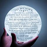 Engraved 3D Moon Lamp for Wife ,Personalized 5.9 Inch 3D Printing Moon Light Gift for Wife Valentine's Christmas Gift (for Wi