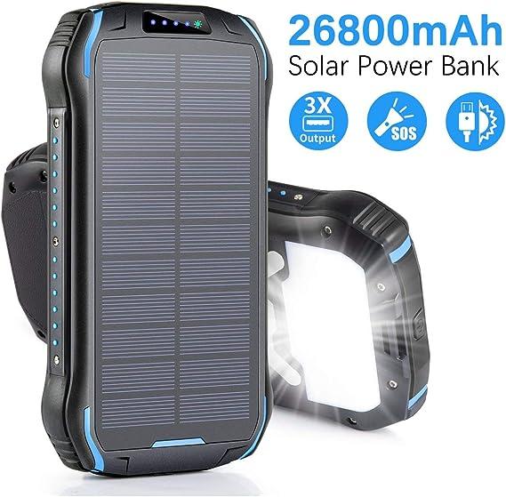 Amazon.com: Aonidi - Cargador solar portátil de 26800 mAh ...