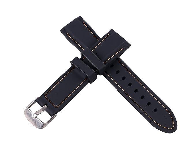 banda de correa de caucho con hebilla perforada impermeable del deporte del reloj blando de silicona