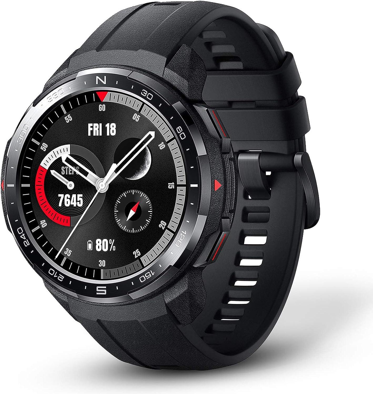 HONOR Watch GS Pro Smartwatch Hombre Reloj Inteligente con GPS 100+ Modos Deportivos 25 Días Batería 14 Certificados Militares, Llamada Bluetooth Monitor de Frecuencia Cardíaca Sueño SpO2 Negro