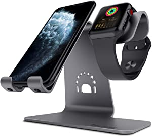 Bestand 2 in 1 Charging Stand Holder for Both iPhone and iWatch Grey