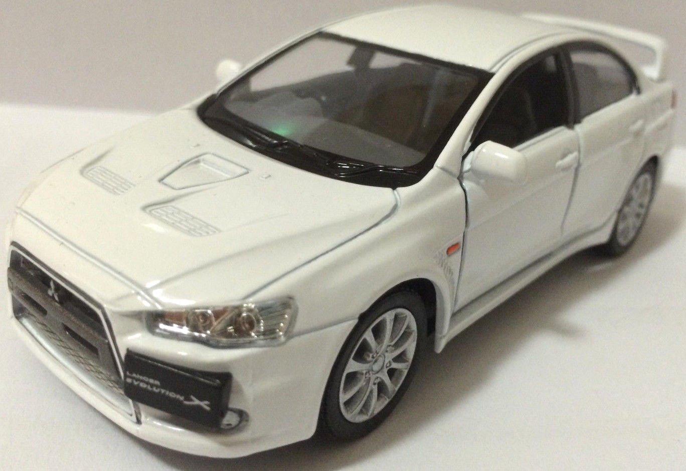 1 36 Scale 2008 Mitsubishi Lancer Evo Evolution X diecast CAR model 5WHITE