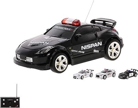 RC teledirigido Mini Policía Auto Vehículo en 1: 58 Escala con control remoto y coolem sirena y función de luz, Auto con con batería integrada: Amazon.es: Juguetes y juegos