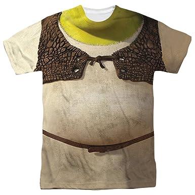 7f5a21746 Amazon.com: Shrek Ogre Adult Sublimation Costume T-Shirt: Clothing