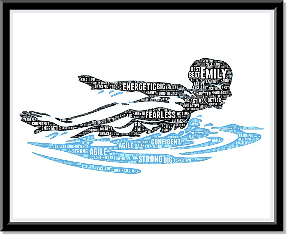 Swimming poster Wall Art for Girls, Personalized Wall Art Gifts for Swimmers, Swim Print gifts, Swimming Birthday Gifts, Word Art Typography of Swim Girl,Custom Swimming poster for Wall Decor…