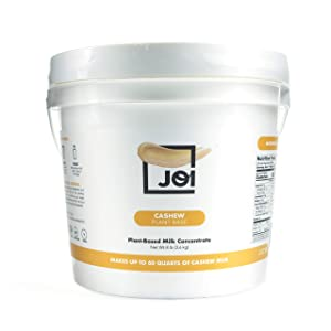 Cashew Milk Concentrate by JOI | Make Your Own Fresh Cashew Milk | Whole30 Approved; Just One Ingredient | Unsweetened without Gums or Emulsifiers | Vegan, Keto, Paleo Friendly | 128oz | Makes up to 60 qts