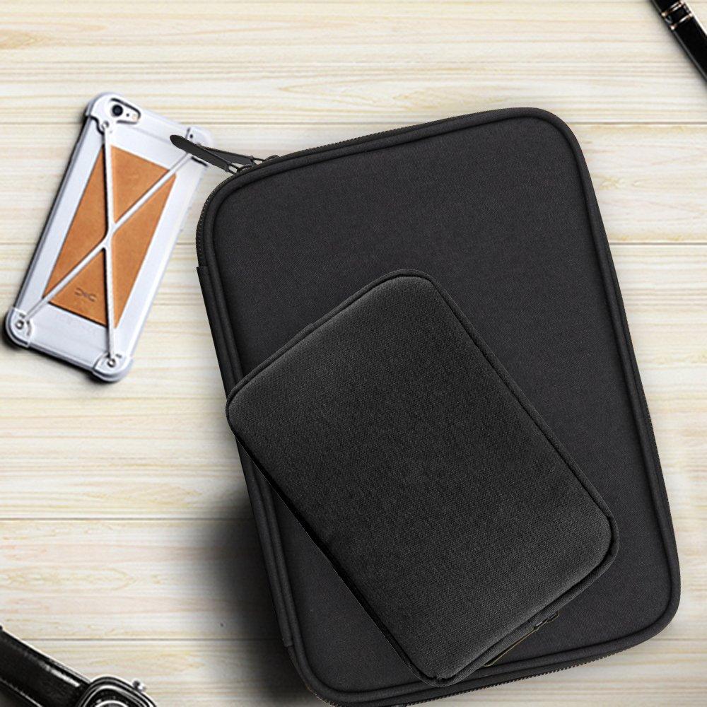2er Set Zubeh/ör f/ür isona Gear Organizer-Tasche kleine Gadget Tragetasche-Tasche mit Ladeger/ät mit USB-Kabel SD-Speicherkarten-Tasche f/ür Flash-Festplatte