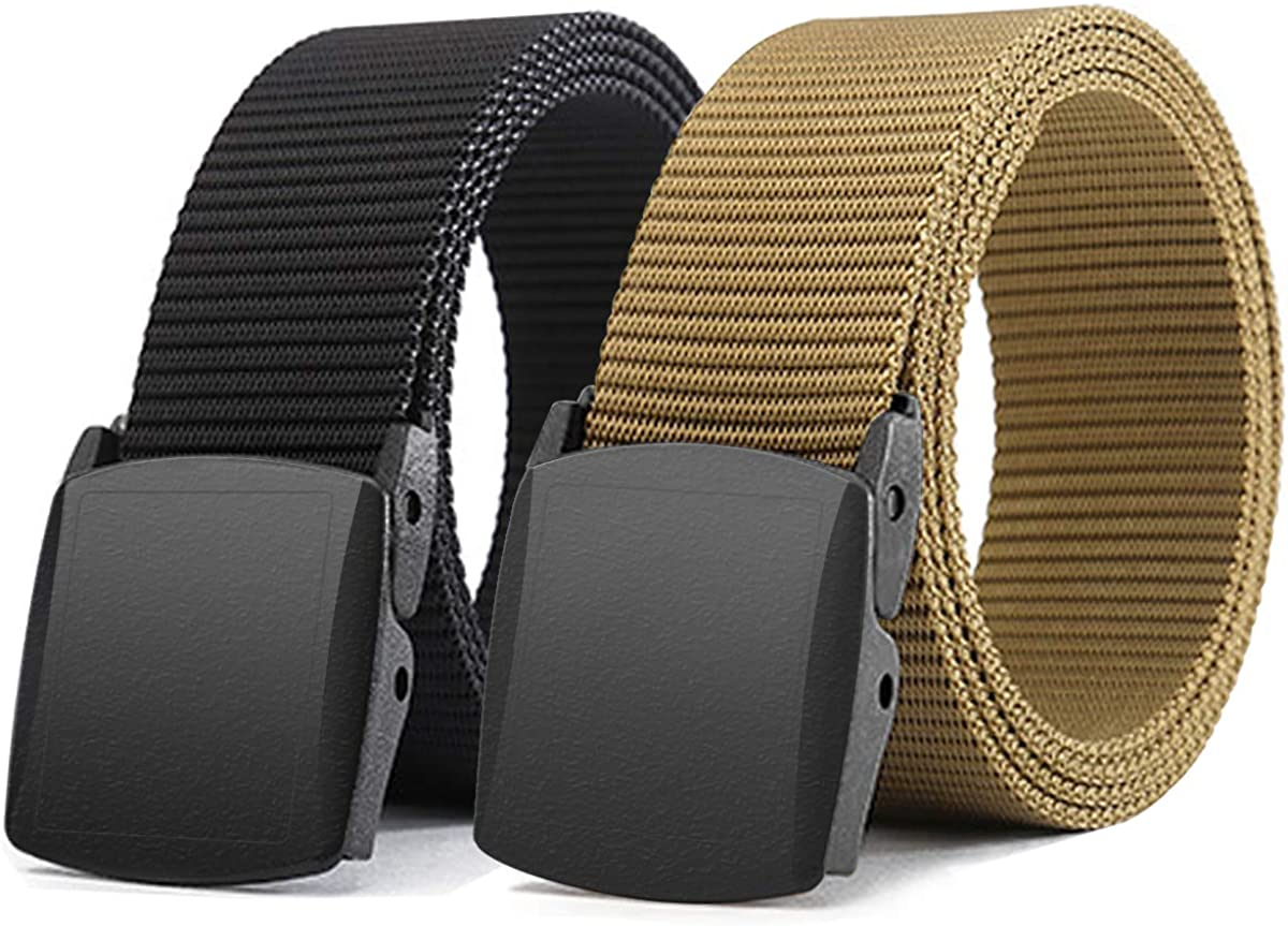 "Nylon Fabric Web Belt New 1.25/"" x 42/"" Made in the USA Men/'s Khaki"