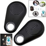2 Bluetooth Mini GPS anti-perte suivi SPY Auto Moto Animal Clés pour enfants (Noir)