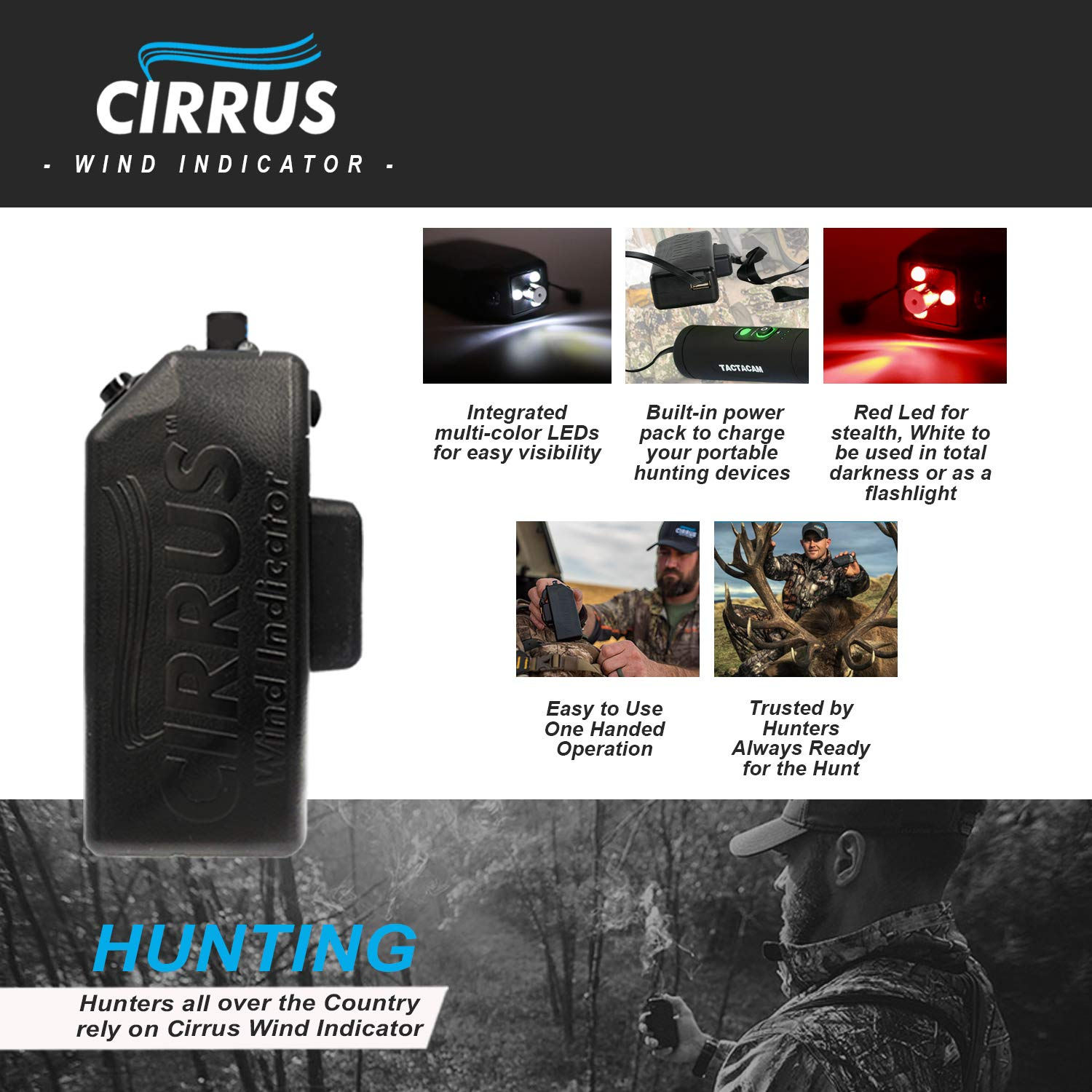 Cirrus Wind Indicator for Hunting - The Perfect Wind Checker Alternative to Messy Powder by Cirrus (Image #4)