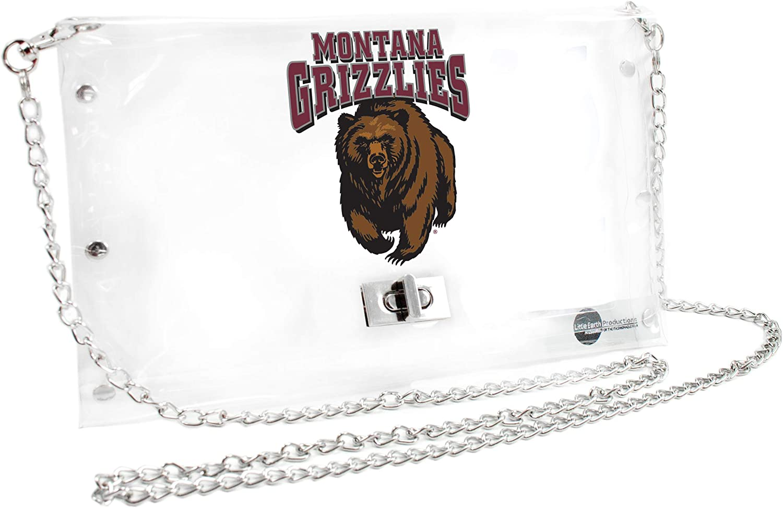 Littlearth Montana Grizzlies  NCAA Envelope Purse 10 x 0.5 x 6.5 Clear Inch