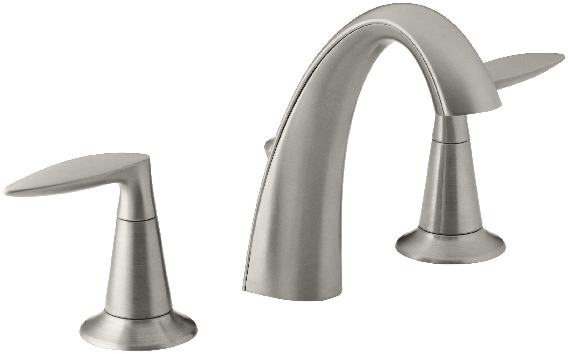 KOHLER K-45102-4-BN Alteo Widespread Lavatory Faucet, Vibrant Brushed Nickel