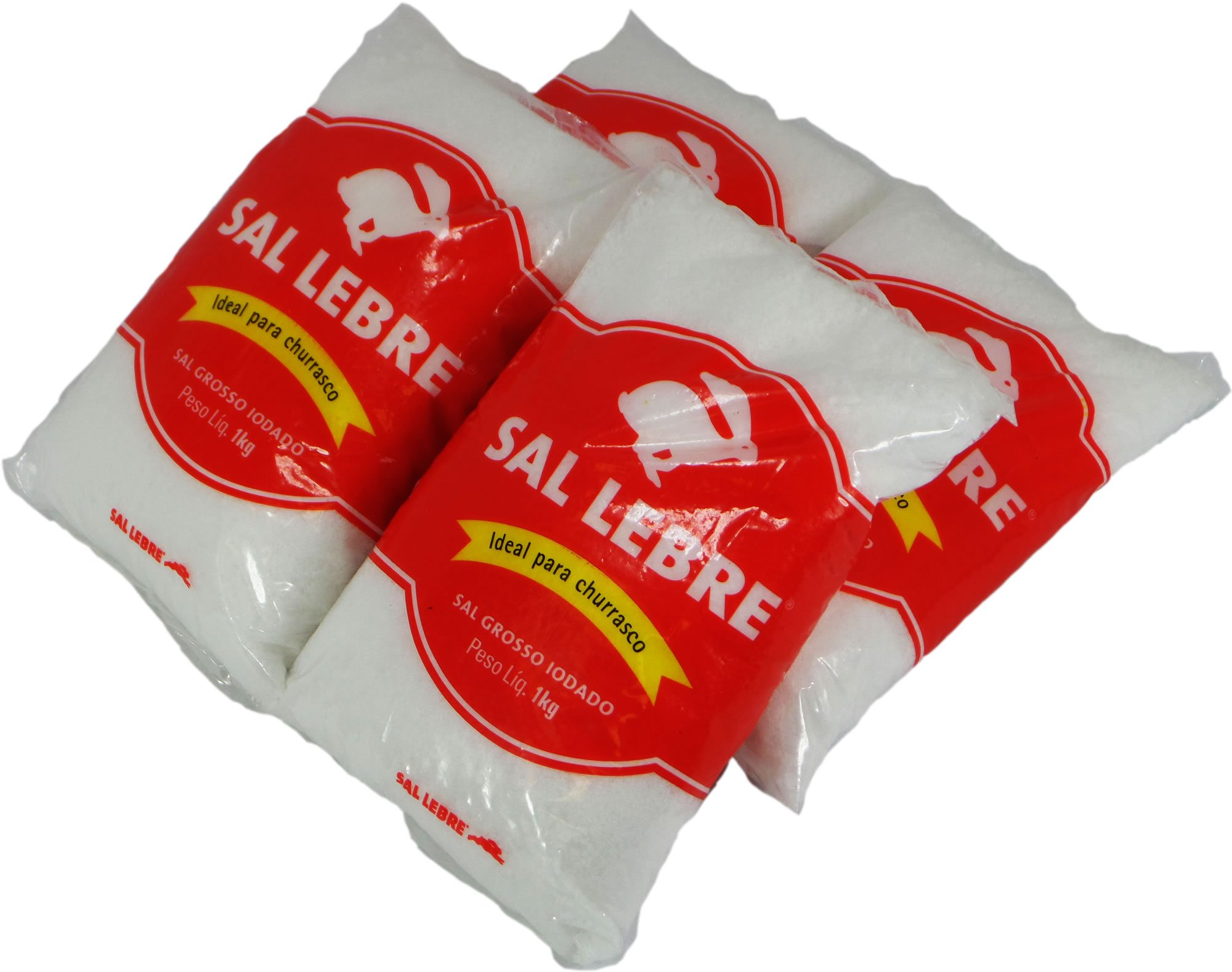 Lebre - Barbecue Salt - 35.27 oz. (PACK OF 04) | Sal p/ Churrasco - 1kg