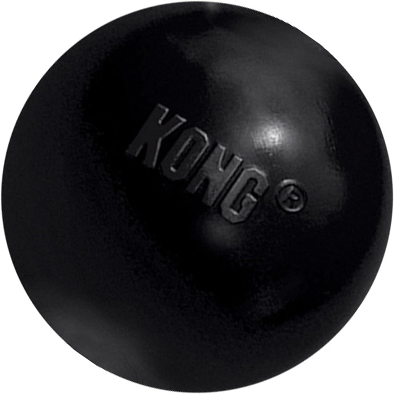 KONG - Extreme Ball - Juguete de Caucho para mandíbulas potentes, Negro - para Perros Pequeños