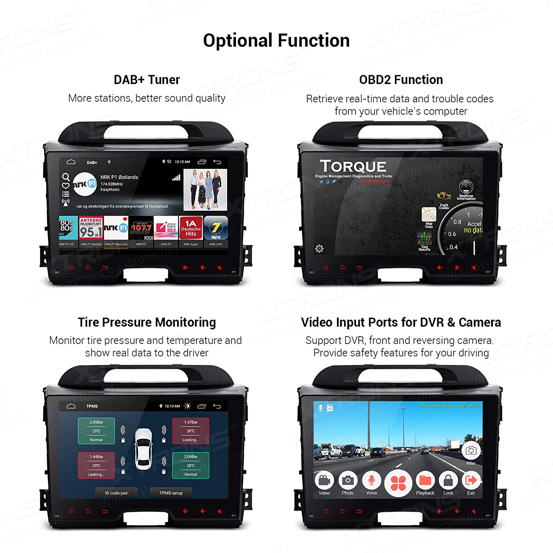 XTRONS - Radio para coche con pantalla táctil IPS 2.5D Quad Core ...
