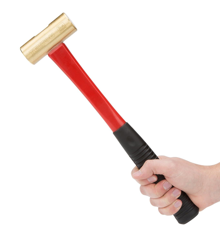 TEKTON 30904 Glasfaser-Messinghammer 680 g 24 oz